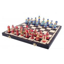 Jeu d'échecs Babushka Bleu