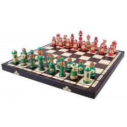 Jeu d'échecs Babushka Vert