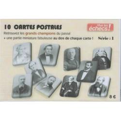 10 cartes postales historiques Vive les échecs! (Série 1)