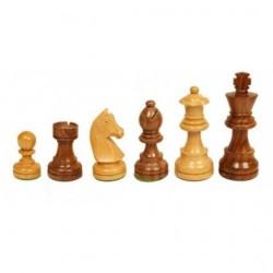 Pièces d'échecs n°5 en buis et bois de rose
